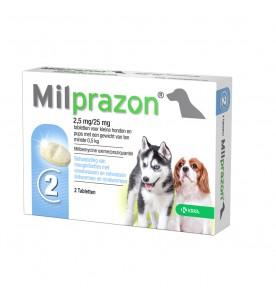 Milprazon Kleine Hond / Puppy - 2.5 mg / 25 mg 2 tab