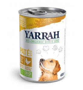 Yarrah Biologisch Hondenvoer Paté met Kip - 12 x 400 gram