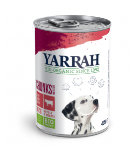 Yarrah Biologisch Hondenvoer Chunks met Kip en Rund
