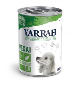 Yarrah Biologisch Hondenvoer Chunks Vega - 12 x 380 gram