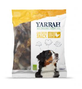 Yarrah Biologische Kippennekken voor Honden - 10 x 150 gram