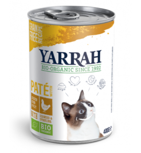 Yarrah Biologisch Kattenvoer Paté met Kip - 12 x 400 gram