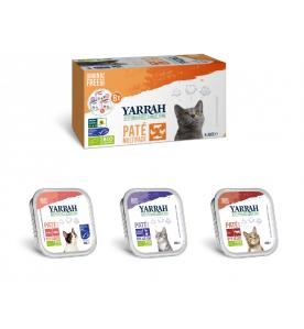 Yarrah Biologisch Kattenvoer Multi Pack - 8 x 100 gram