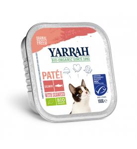 Yarrah Biologisch Kattenvoer Paté met Zalm - 16 x 100 gram