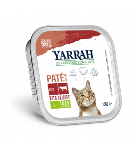 Yarrah Biologisch Kattenvoer Paté met Rund & Kip - 16 x 100 gram