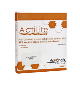 Advances Actilite Manuka Viscose Netverband 5 x 5 cm - 1 stuk