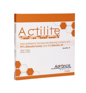Advances Actilite Manuka Viscose Netverband 10 X 10 Cm - 1 Stuk