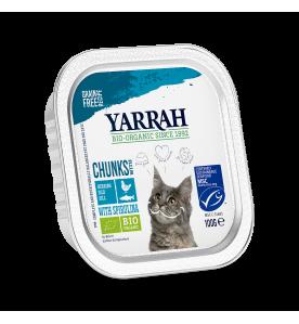 Yarrah Biologisch Kattenvoer Chunks met Vis - 16 x 100 gram