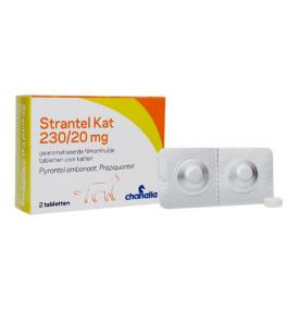 Strantel Kat 230/20 mg - 2 tabletten